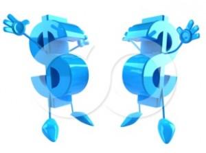 54488-Two-Blue-Jumping-3d-Dollar-Symbols-With-Arms-And-Legs-Poster-Art-Print-300x223 В чем заключается упешность блогов