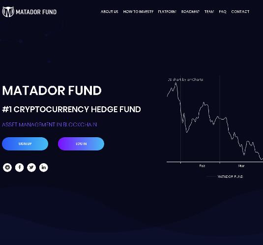 1-2 Matador Fund - Крипто Фонд, который избавит вас от нервотрепки связанной с трейдингом